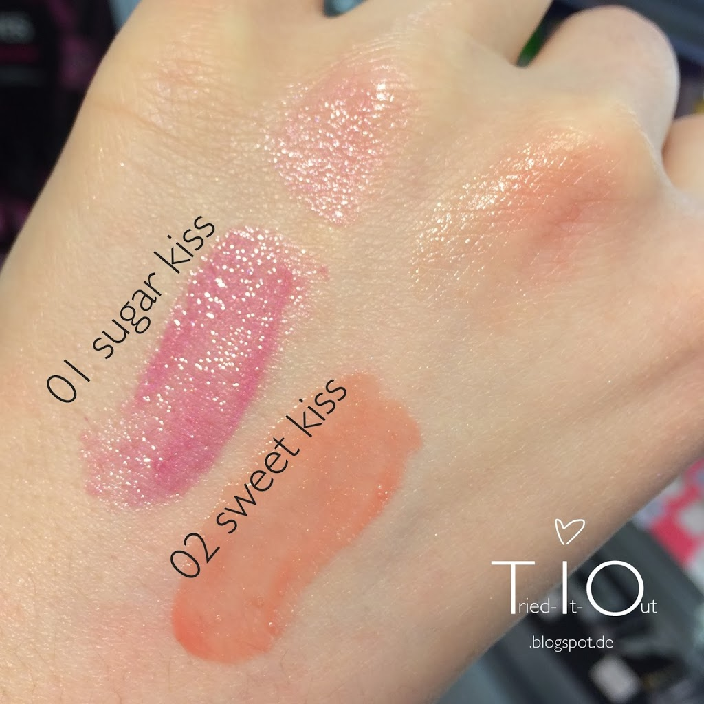 """Shining Kiss"" Limited Edition Alterra Lippenpeeling Swatch"