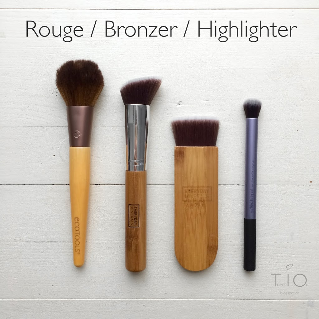 Pinsel Rouge Bronzer Highlighter Ecotools Everyday Minerals Real Techniques