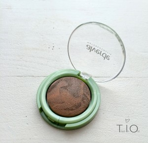 alverde glowing brown of baked marbleised eyeshadow