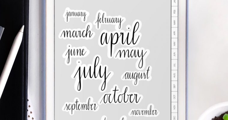 Calendar / Bullet journal 2019 [Free digital notebook template]